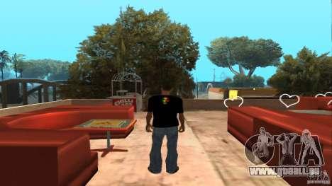 T-shirt Bob Marley pour GTA San Andreas deuxième écran