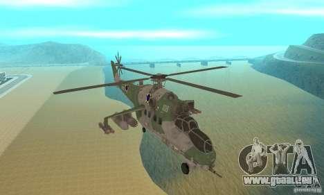 Ein Hubschrauber der globalen Konflikt-Schtorm für GTA San Andreas Rückansicht