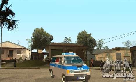 Volkswagen Transporter T4 German Police für GTA San Andreas Rückansicht