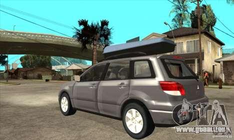 Mitsubishi Airtrek pour GTA San Andreas sur la vue arrière gauche