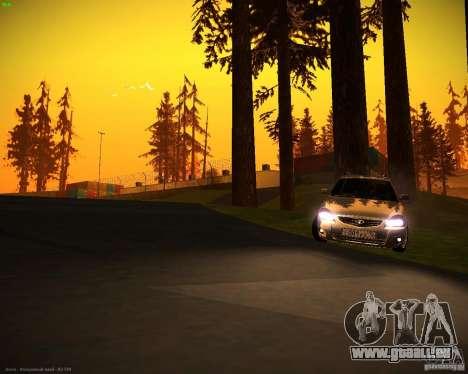 Vaz-2171 Restajl pour GTA San Andreas sur la vue arrière gauche