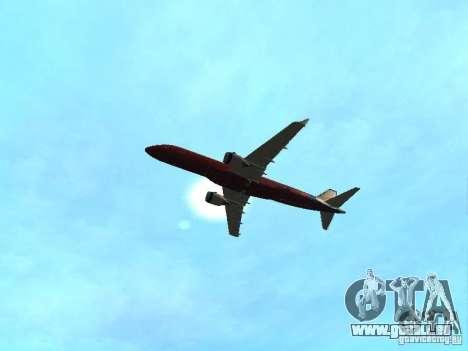 Embraer ERJ 190 Virgin Blue für GTA San Andreas Innenansicht