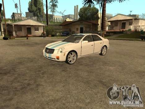 Cadillac CTS pour GTA San Andreas vue de dessus