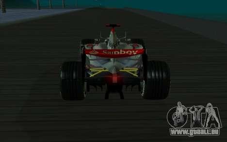 McLaren F1 für GTA San Andreas zurück linke Ansicht