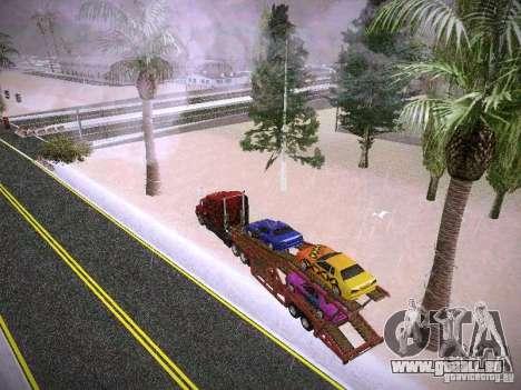 Auto transporteur Trailer pour GTA San Andreas vue intérieure