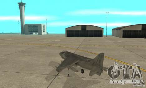 AV-8 Harrier pour GTA San Andreas sur la vue arrière gauche