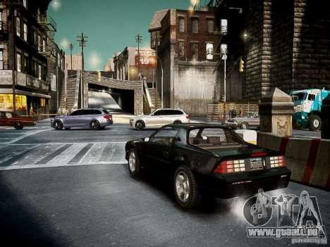 Chevrolet Camaro Iroc-Z 1990 pour GTA 4 est un droit