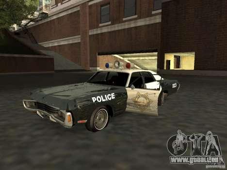Dodge Polara Police 1971 für GTA San Andreas Innenansicht