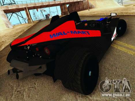 KTM X-Bow 2013 pour GTA San Andreas sur la vue arrière gauche
