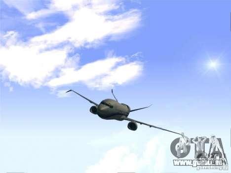 Boeing 737 Iron Man Bussines Jet pour GTA San Andreas vue de droite