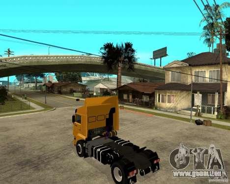 KAMAZ 5460M TAI version 1.5 pour GTA San Andreas laissé vue