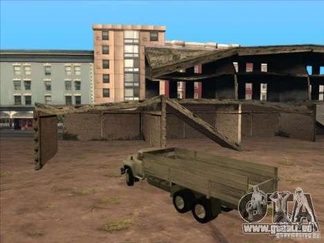 ZIL-133GÂ pour GTA San Andreas vue intérieure