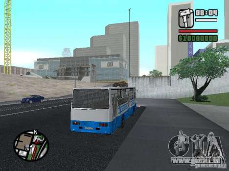 Ikarus 260 Sicherheits für GTA San Andreas Rückansicht
