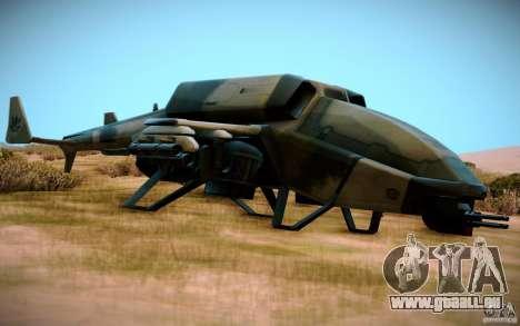 Type 4 Doragon für GTA San Andreas zurück linke Ansicht