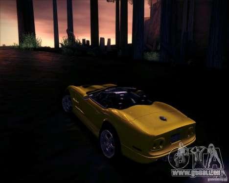 Shelby Series One 1998 pour GTA San Andreas vue intérieure