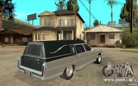 Cadillac Fleetwood 1985 Hearse Tuned für GTA San Andreas rechten Ansicht