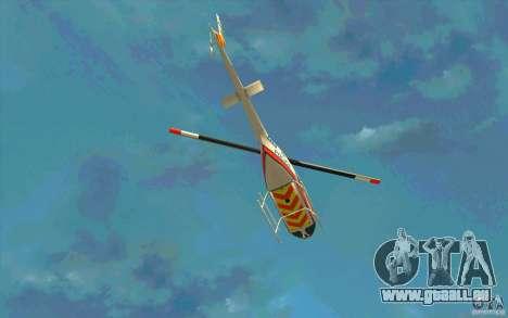 Bell 206 B Police texture2 pour GTA San Andreas vue de côté