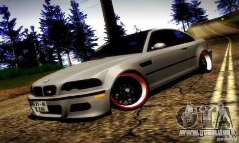 BMW M3 JDM Tuning für GTA San Andreas obere Ansicht