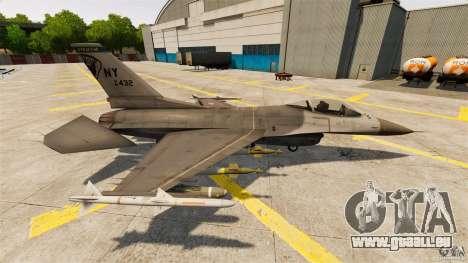 F-16C Fighting Falcon pour GTA 4 est une gauche