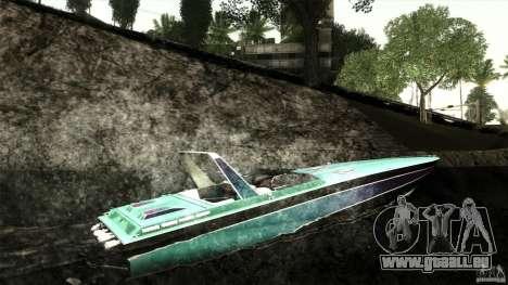 Wellcraft 38 Scarab KV pour GTA San Andreas vue de droite