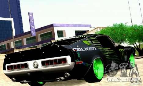 Shelby GT500 Monster Drift pour GTA San Andreas vue de droite