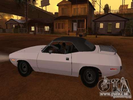 Plymouth Barracuda Rag Top 1970 für GTA San Andreas linke Ansicht