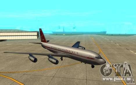 Qantas 707B für GTA San Andreas zurück linke Ansicht