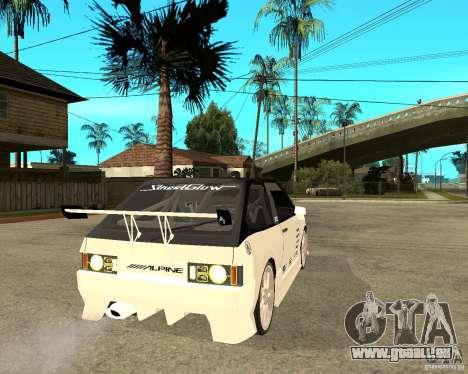 VAZ 2108 extrême pour GTA San Andreas sur la vue arrière gauche