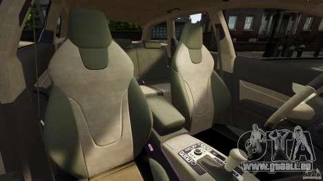 Audi A6 Avant Stanced 2012 v2.0 pour GTA 4 est une vue de l'intérieur