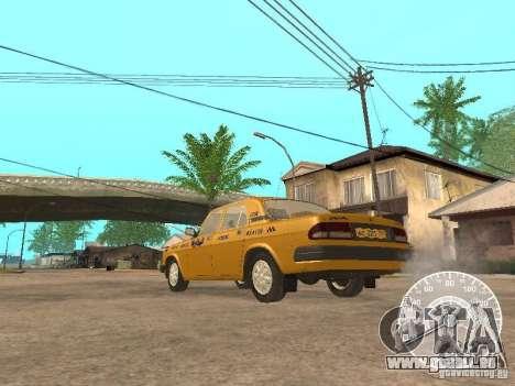 GAZ 3110 Wolga taxi für GTA San Andreas rechten Ansicht
