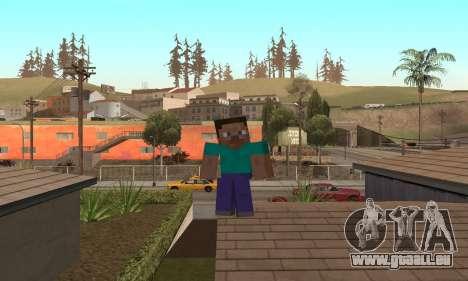 Steve de la peau de Minecraft jeu pour GTA San Andreas sixième écran