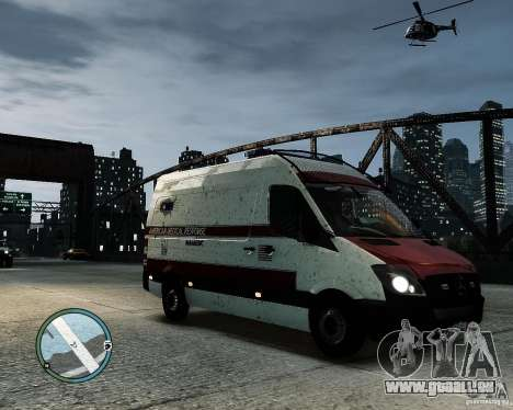 Mercedes Benz Sprinter American Medical Response für GTA 4 hinten links Ansicht