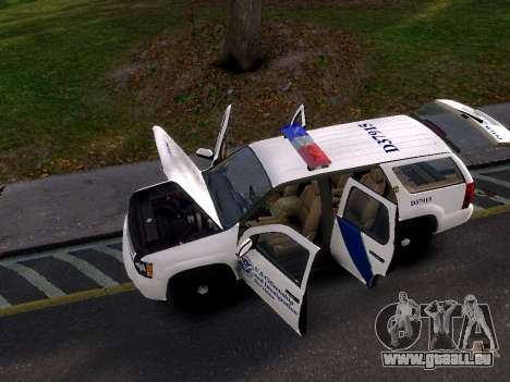 Chevrolet Tahoe Homeland Security pour GTA 4 est un droit