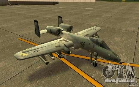 A-10 Warthog für GTA San Andreas linke Ansicht