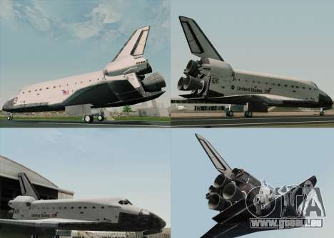 Space Shuttle für GTA San Andreas Innenansicht