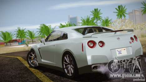 Nissan GTR Black Edition für GTA San Andreas obere Ansicht