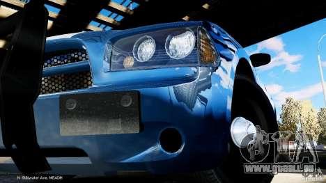 POLICIA FEDERAL MEXICO DODGE CHARGER ELS pour GTA 4 Vue arrière