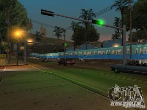 Métro e pour GTA San Andreas vue arrière