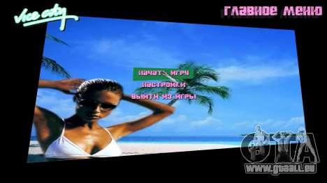 Arrière-plan de menu Spiaggia pour GTA Vice City