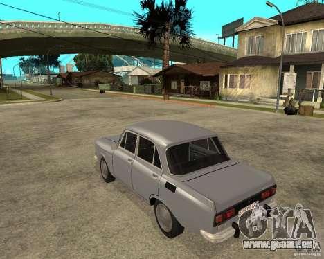 Moskvitch AZLK 2140- pour GTA San Andreas laissé vue