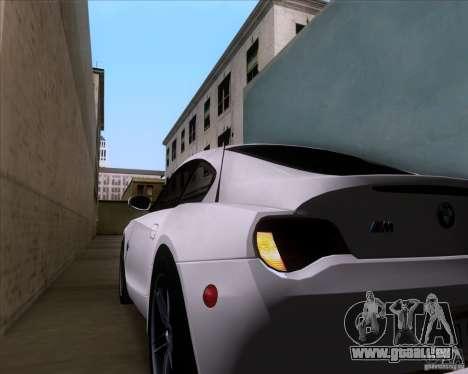 BMW Z4 M Coupe für GTA San Andreas Unteransicht