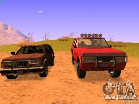 Huntley Superior pour GTA San Andreas laissé vue