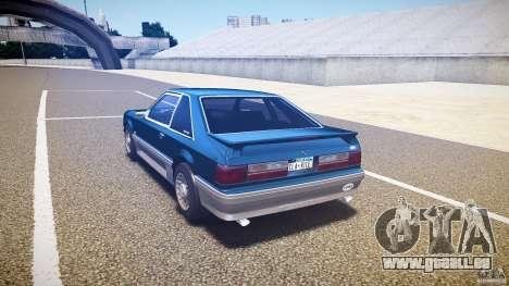 Ford Mustang GT 1993 Rims 1 pour GTA 4 Vue arrière de la gauche