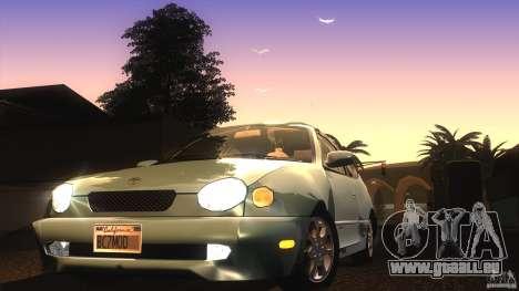 Toyota Corolla G6 Compact E110 US pour GTA San Andreas vue de côté