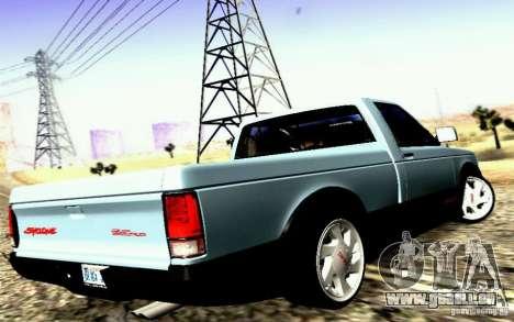 GMC Syclone Stock pour GTA San Andreas laissé vue