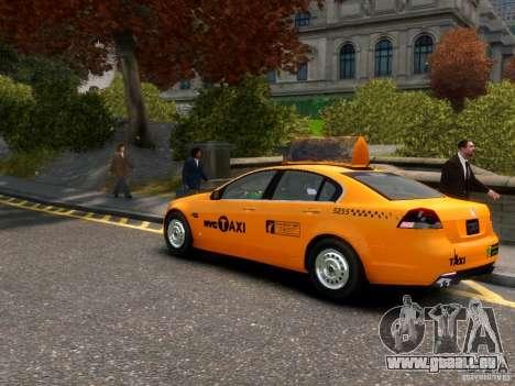 Holden NYC Taxi für GTA 4 hinten links Ansicht