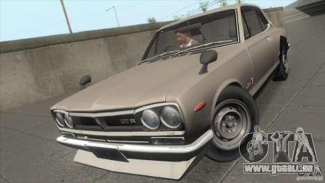 Nissan Skyline 2000 GT-R Coupe für GTA San Andreas Rückansicht