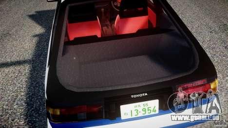 Toyota Trueno AE86 Initial D pour GTA 4 vue de dessus