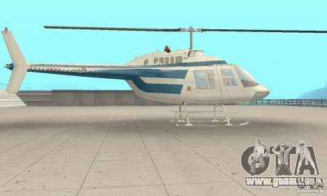 Bell 206B JetRanger II pour GTA San Andreas sur la vue arrière gauche
