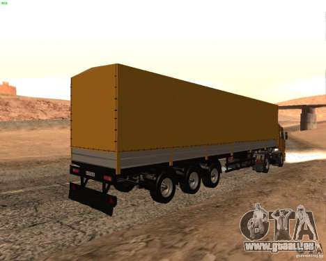 Remorque Nefaz de Truckers 2 pour GTA San Andreas laissé vue